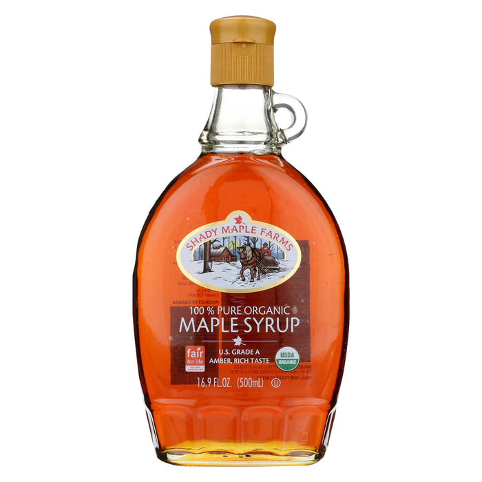Shady Maple Farms 100 Percent Pure Organic Maple Syrup - Case Of 12 - 16.9 Fl Oz.