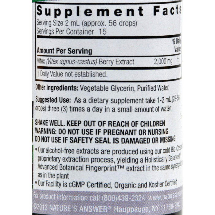 Nature's Answer Vitex Berry Alcohol Free - 1 Fl Oz