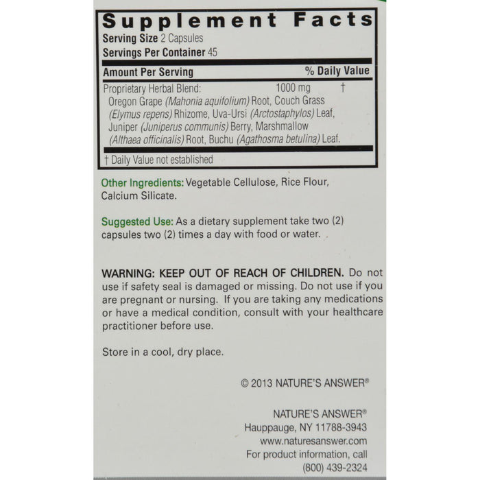 Nature's Answer Bladdex - 90 Vegetarian Capsules