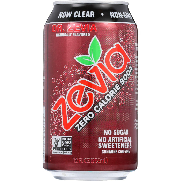 Zevia Soda - Zero Calorie - Dr Zevia - Can - 6-12 Oz - Case Of 4