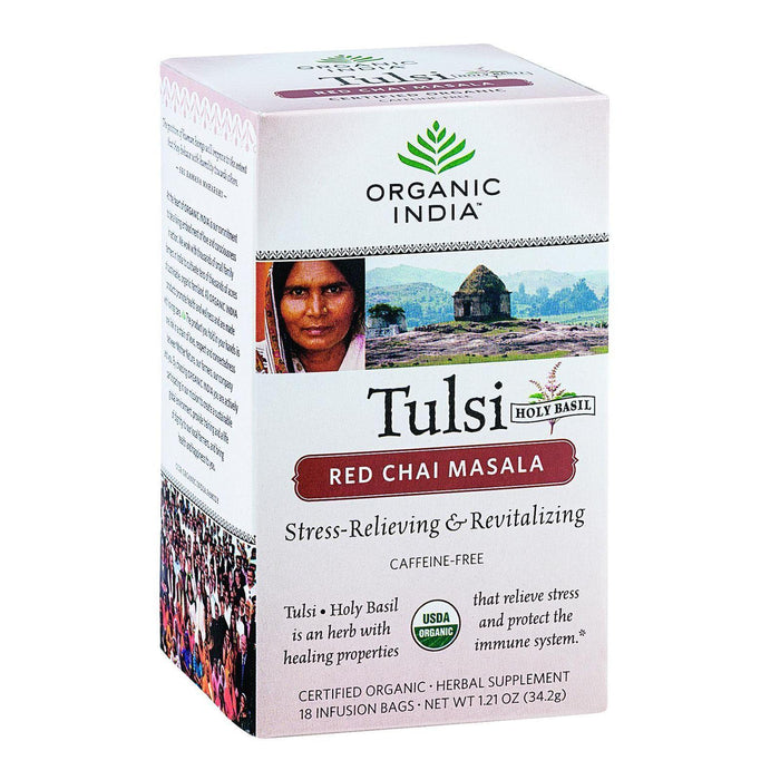 Organic India Organic Tulsi Tea - Red Chai Masala - 18 Tea Bags - Case Of 6