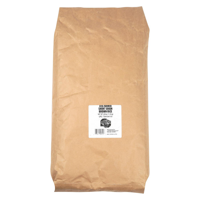 Lundberg Family Farms Brown Short Grain Rice - Case Of 25 - 1 Lb.