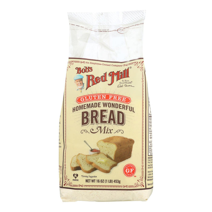 Bob's Red Mill Gluten Free Homemade Wonderful Bread Mix - 16 Oz - Case Of 4