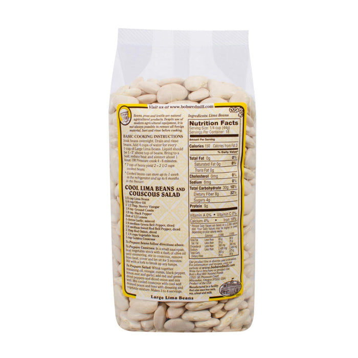Bob's Red Mill Large Lima Beans - 28 Oz - Case Of 4