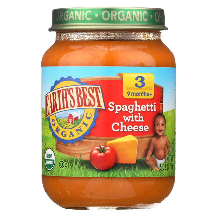 Earth's Best Organic Spaghetti With Cheese Baby Food - Stage 3 - Case Of 12 - 6 Oz.