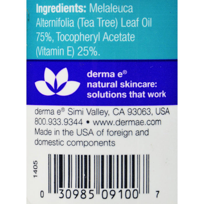 Derma E Tea Tree And E Oil - 1 Fl Oz