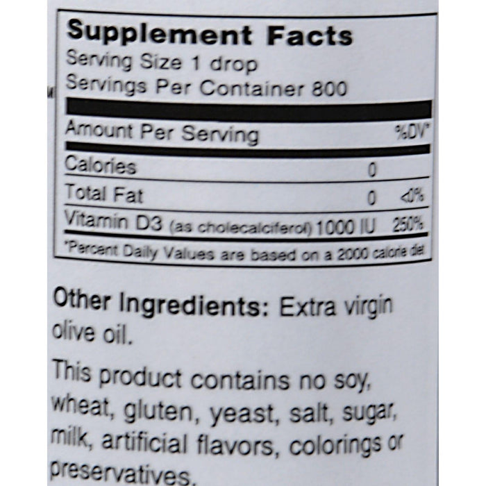 Maxi Health Maxi D3 Concentrate - 1000 Iu - 1 Fl Oz