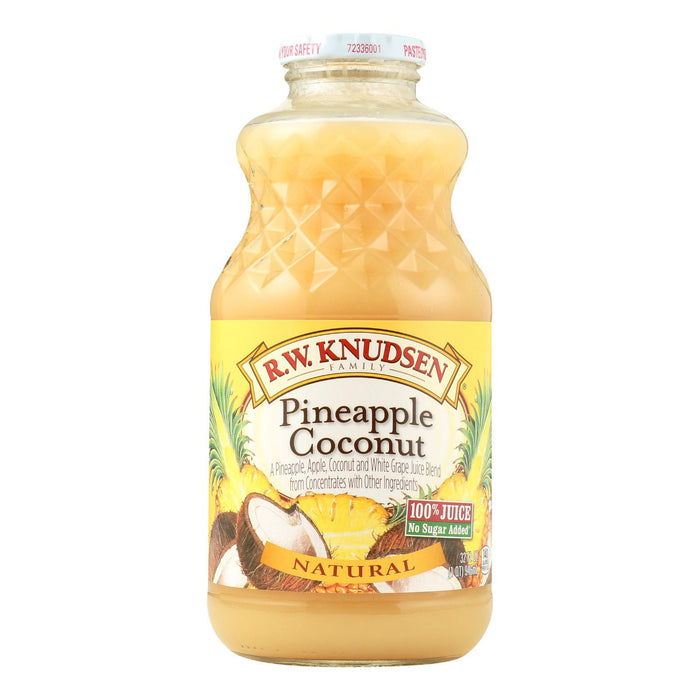 R.w. Knudsen Juice Blends - Pineapple Coconut - Case Of 12 - 32 Fl Oz.