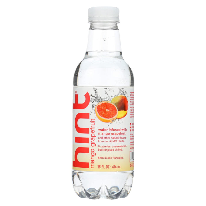 Hint Grapefruit Water - Mango Grapefruit - Case Of 12 - 16 Fl Oz.