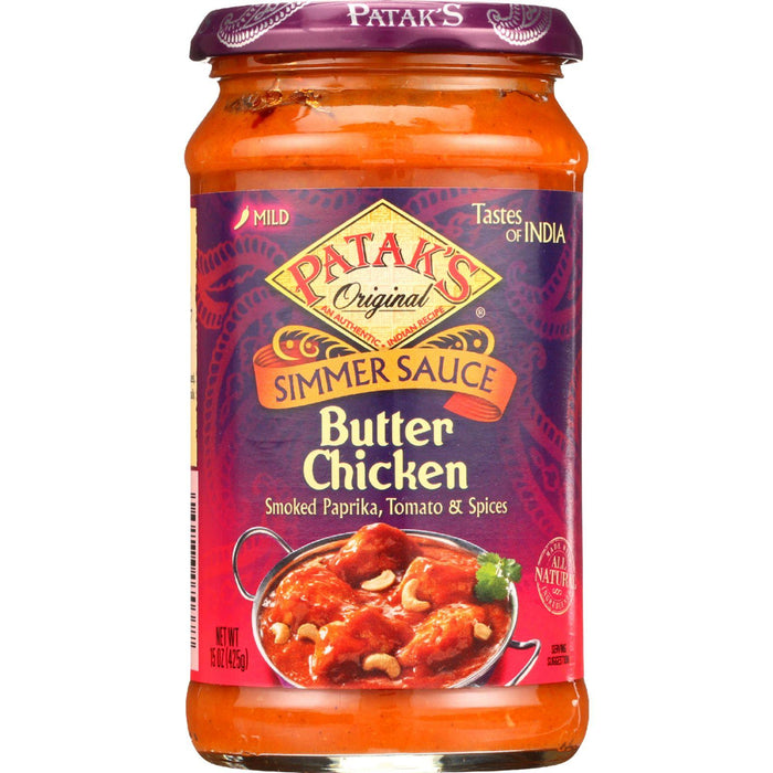 Pataks Simmer Sauce - Butter Chicken Curry - Mild - 15 Oz - Case Of 6