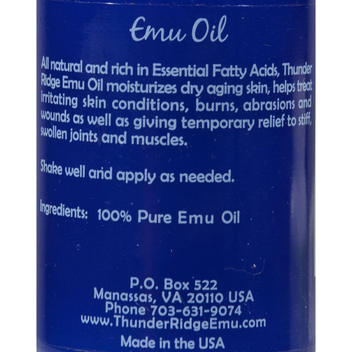 Thunder Ridge Emu Oil - 4 Fl Oz