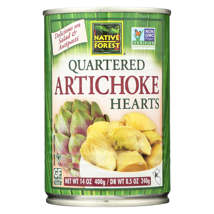 Native Forest Quartered Artichoke Hearts - Case Of 6 - 14 Oz.