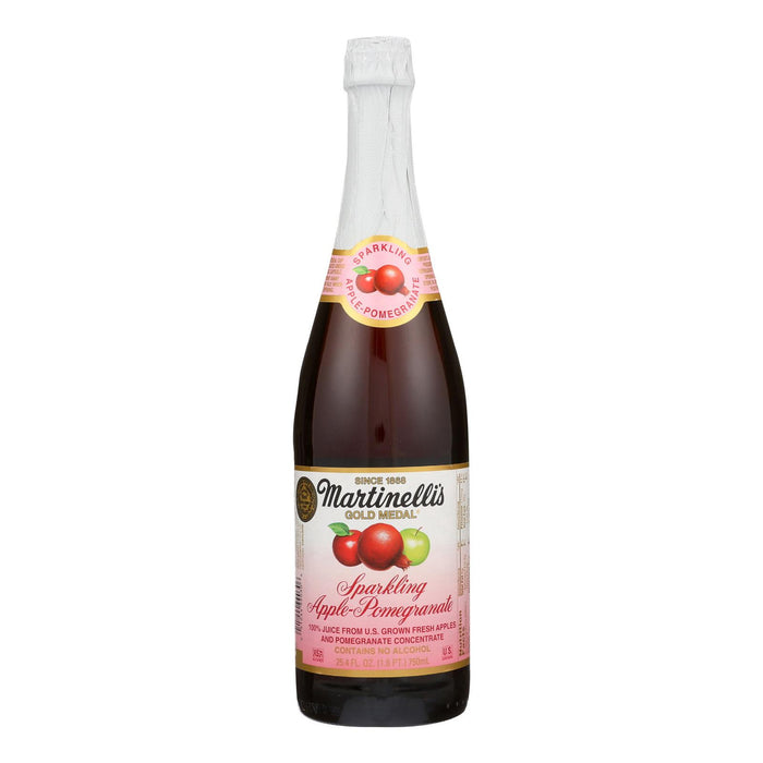 Martinelli's Sparkling Juice - Apple Pomegranate - Case Of 12 - 25.4 Fl Oz.