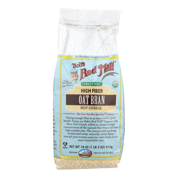 Bob's Red Mill Organic High Fiber Oat Bran Hot Cereal - 18 Oz - Case Of 4