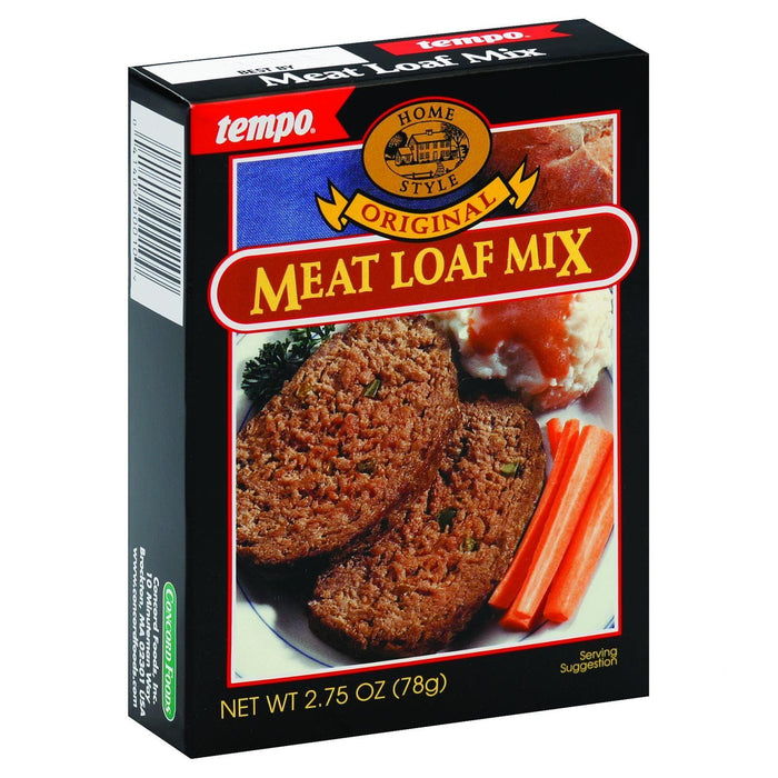 Tempo Home Style Meatloaf Mix - Original - 2.75 Oz - Case Of 12