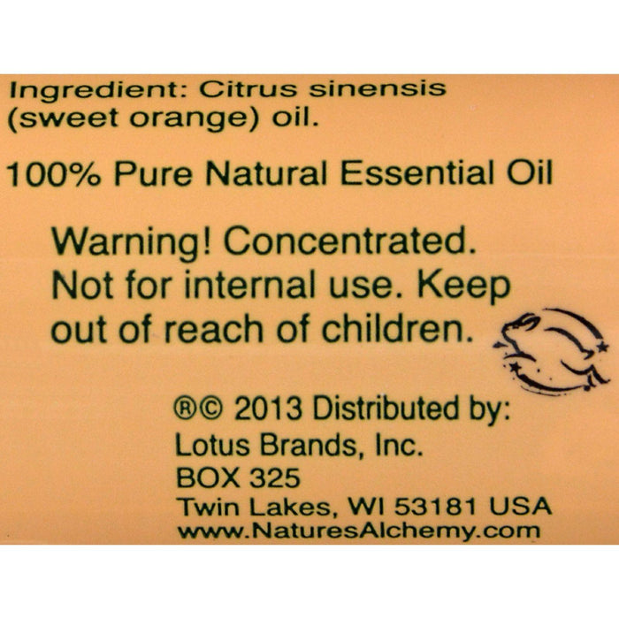 Nature's Alchemy 100% Pure Essential Oil Orange - 0.5 Fl Oz