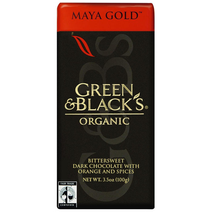 Green And Black's Organic Chocolate Bars - Dark Chocolate - 60 Percent Cacao - Maya Gold - 3.5 Oz Bars - Case Of 10