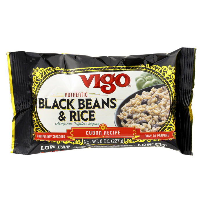 Vigo Black Bean And Rice - Case Of 12 - 8 Oz.