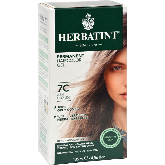 Herbatint Permanent Herbal Haircolour Gel 7c Ash Blonde - 135 Ml