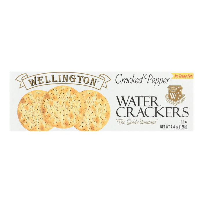 Wellington Cracked Pepper - Water Cracker - Case Of 12 - 4.25 Oz.