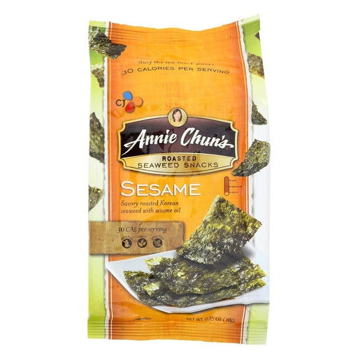 Annie Chun's Seaweed Snacks Roasted Sesame - Case Of 12 - 0.35 Oz.