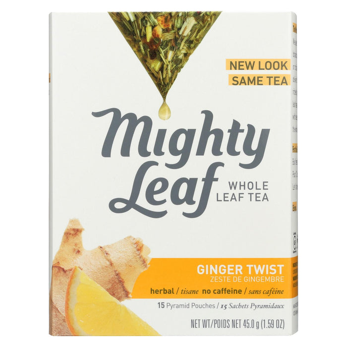 Mighty Leaf Tea Herbal Tea - Ginger Twist - Case Of 6 - 15 Bags