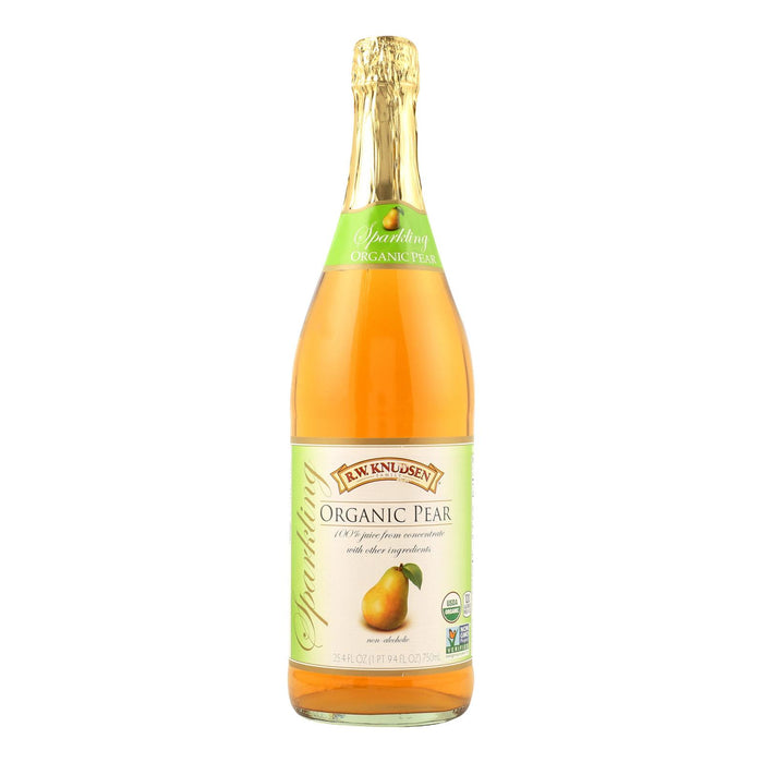 R.w. Knudsen Sparkling Juice - Organic Pear - Case Of 12 - 750 Ml