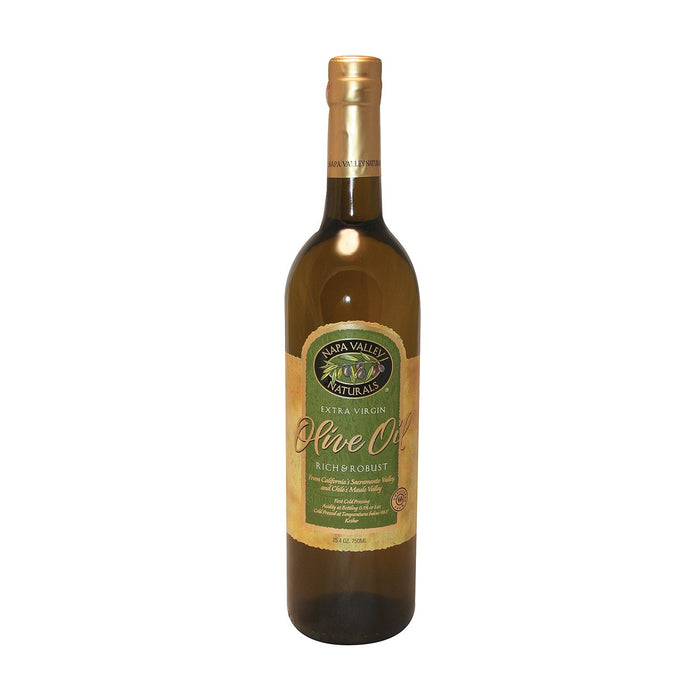 Napa Valley Naturals Rich And Robust Extra Virgin Olive Oil - Olive - Case Of 12 - 25.4 Fl Oz.