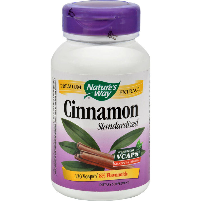 Nature's Way Cinnamon Standardized - 120 Vcaps