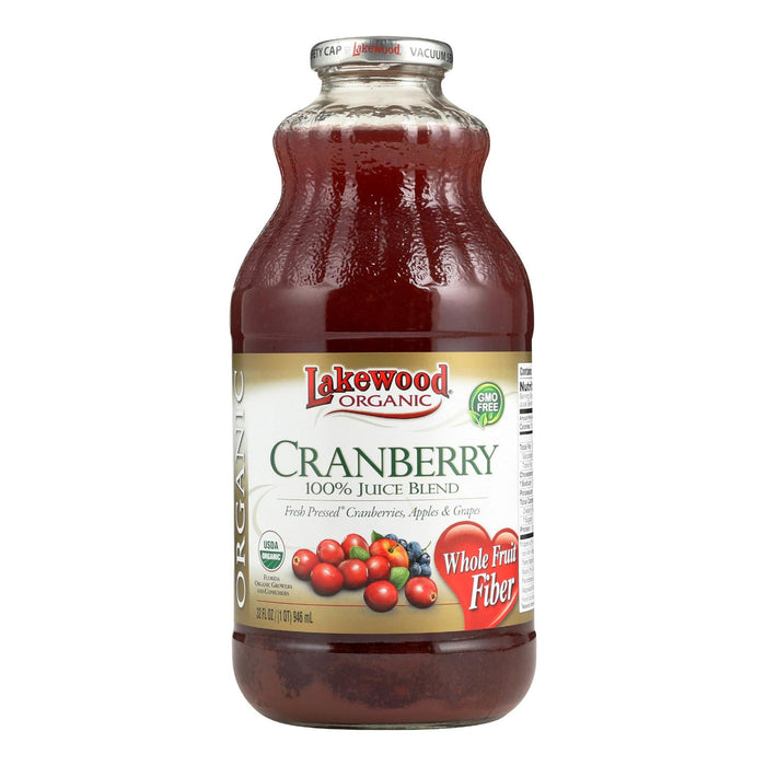 Lakewood Cranberry Juice - Cranberry - Case Of 12 - 32 Fl Oz.