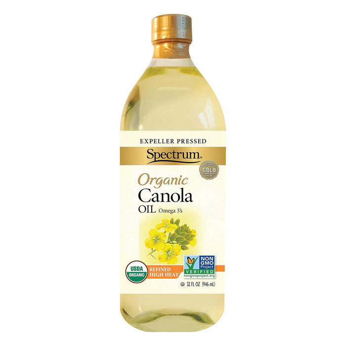 Spectrum Naturals Organic Refined Canola Oil - Case Of 12 - 32 Fl Oz.
