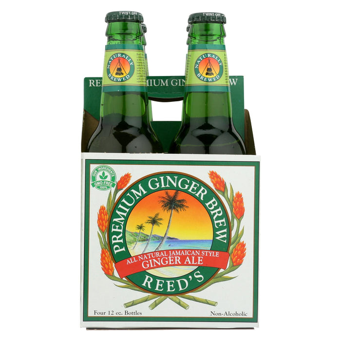 Reed's Ginger Beer Ginger Brew - Premium - Case Of 6 - 12 Fl Oz.