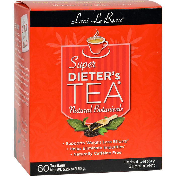 Laci Le Beau Super Dieter's Tea All Natural Botanicals - 60 Tea Bags