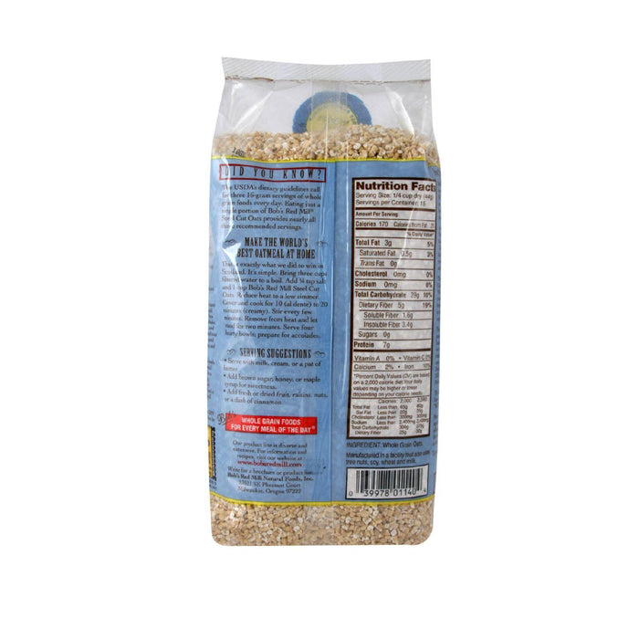 Bob's Red Mill Steel Cut Oats - 24 Oz - Case Of 4