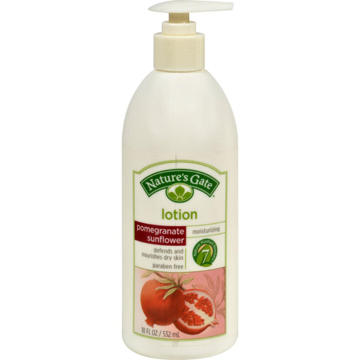 Nature's Gate Lotion - Pomegranate Sunflower - 18 Oz