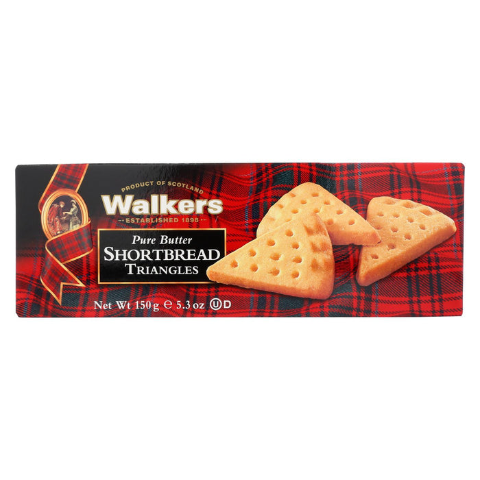 Walkers Shortbread - Pure Butter, Triangle - Case Of 12 - 5.3 Oz.