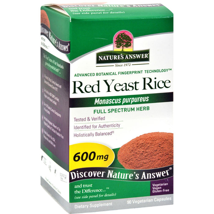 Nature's Answer Red Yeast Rice - 90 Vegetarian Capsules
