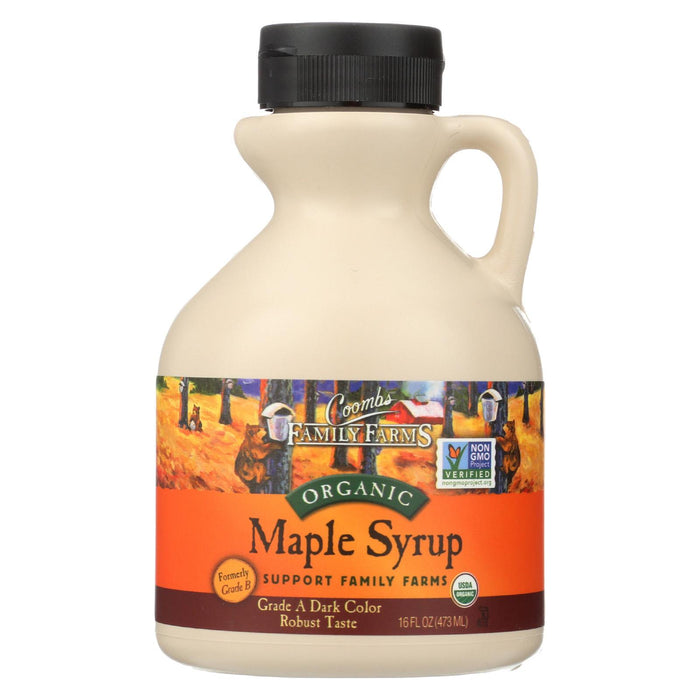 Coombs Family Farms - Organic Maple Syrup - Grade A Dark Color - Case Of 12 - 16 Oz