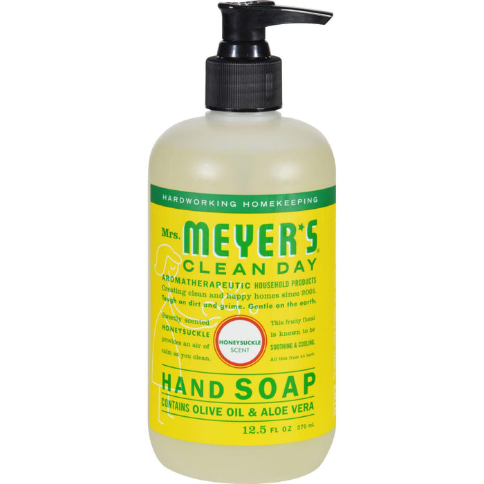 Mrs. Meyer's Liquid Hand Soap - Honeysuckle - Case Of 6 - 12.5 Oz