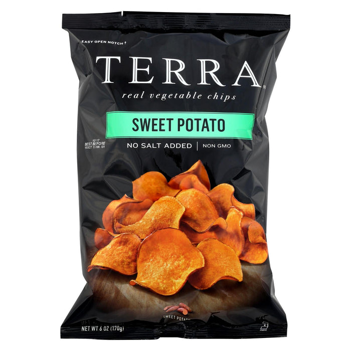 Terra Chips Sweet Potato Chips - Sweet Potato No Salt Added - Case Of 12 - 6 Oz.