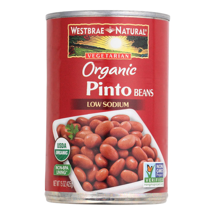 Westbrae Foods Organic Pinto Beans - Case Of 12 - 15 Oz.