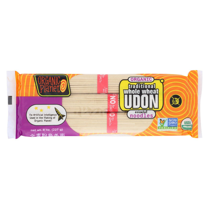 Organic Planet Traditional Whole Wheat Udon Oriental Noodles - Case Of 12 - 8 Oz.