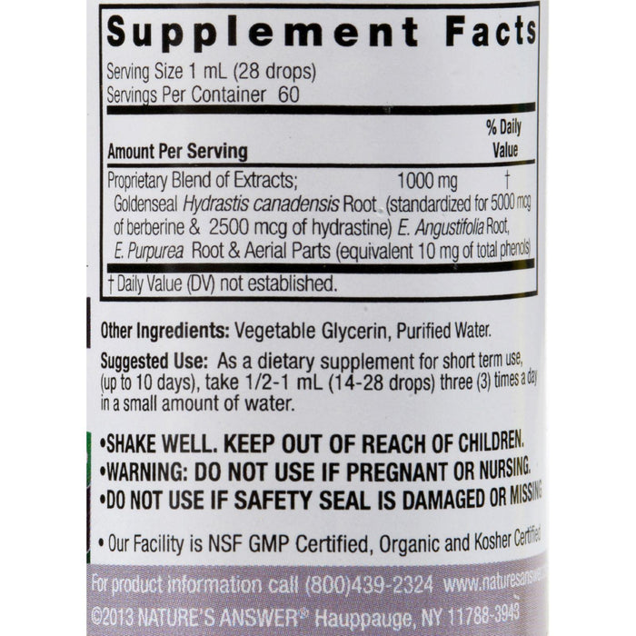 Nature's Answer Echinacea And Goldenseal Alcohol Free - 2 Fl Oz