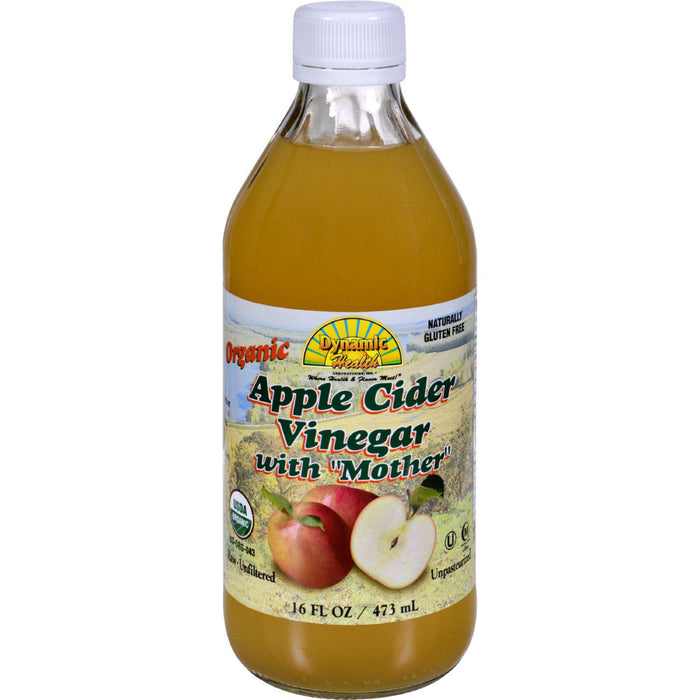 Dynamic Health Organic Apple Cider Vinegar With Mother - 16 Fl Oz