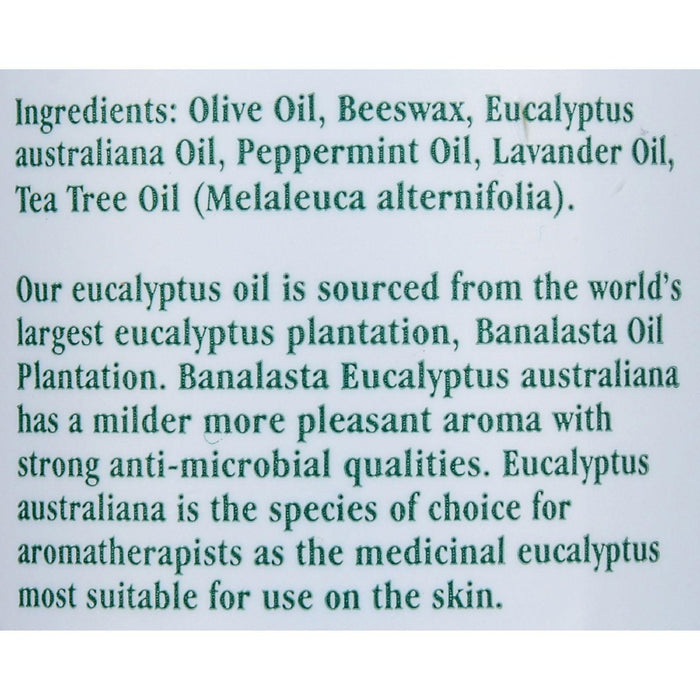 Tea Tree Therapy Eucalyptus Chest Rub Eucalyptus Australiana Lavender Peppermint And Tea Tree Oil - 2 Oz