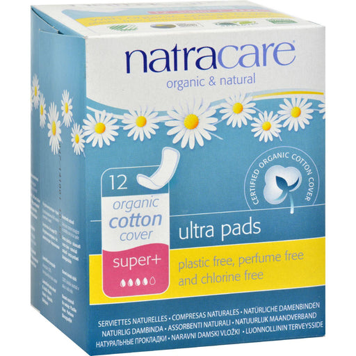 Natracare Natural Ultra Pads Super Plus W-organic Cotton Cover -  12 Pack