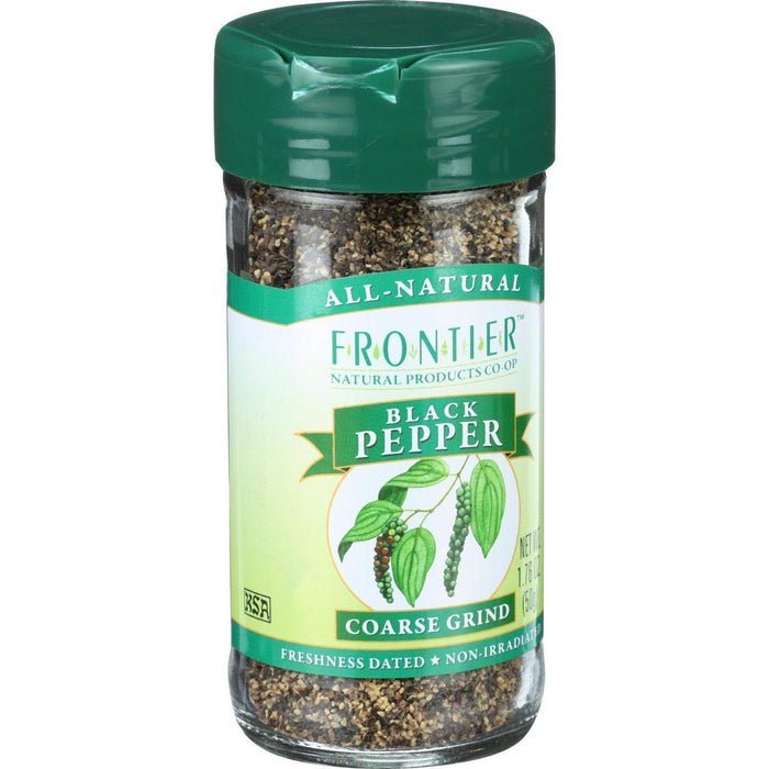 Frontier Herb Pepper - Black - Coarse Grind - 1.76 Oz