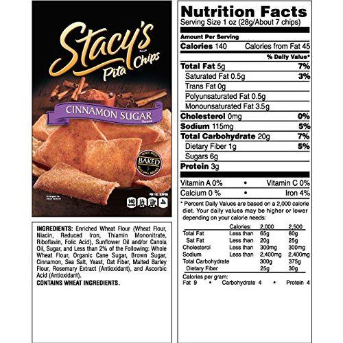 Stacey's Pita Chips - Cinnamon Sugar - 1.5 Oz - Case Of 24