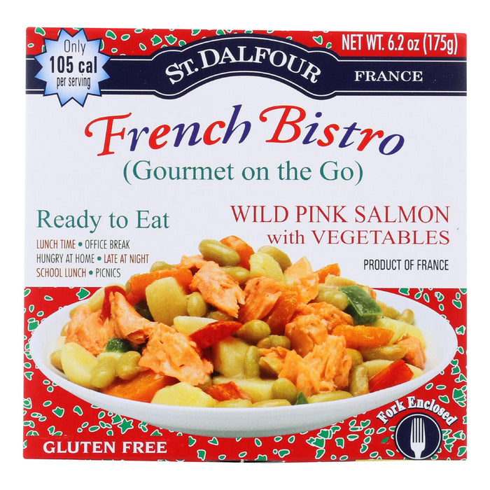 St Dalfour Gourmet On The Go - Ready To Eat - Wild Pink Salmon With Vegetables - 6.2 Oz - Case Of 6
