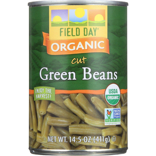 Field Day Beans - Organic - Green - Cut - 14.5 Oz - Case Of 12